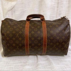 Vintage LouisVuitton Keepall 45 Boston Leather Bag
